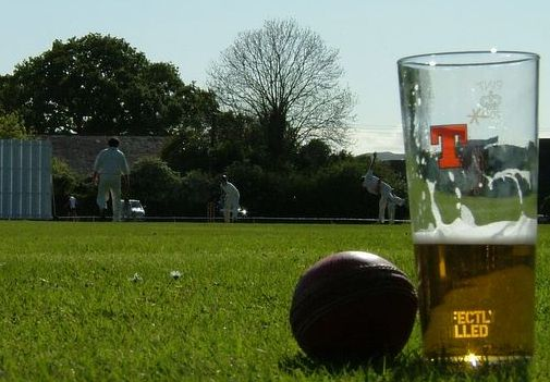 Cricket and a beer