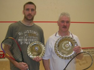 Runner-up John Thin and winner Colin Davies
