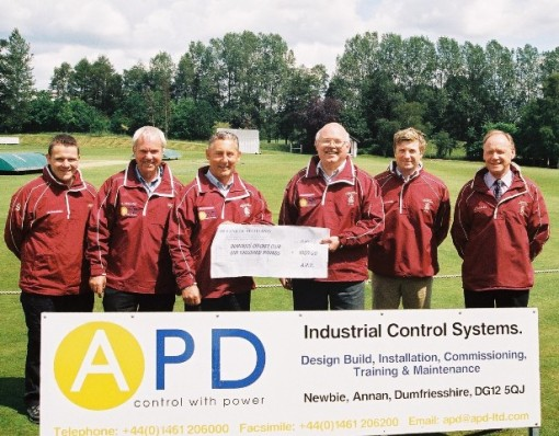 APD Ltd of Newbie sponsors Dumfries in 2009