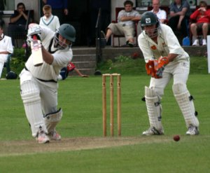 Byo's cover drive in action, coutesy of CricketEurope
