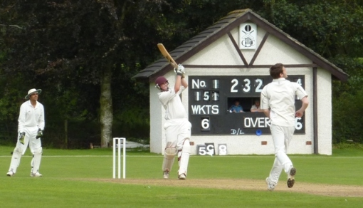Bellwood lands a six onto the pavilion roof