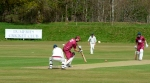 Wright, ex Scotland captain, hit 40 v Dumfries ©Roger Lever Photography