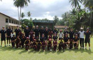 Scotland U19s schools coaching in Sri Lanka ©Cricket Scotland