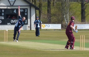 Peter opens the bowling for Dumfries