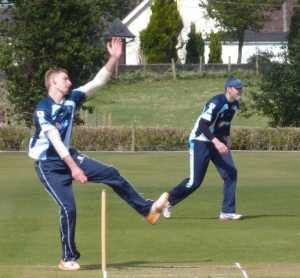 Niall claimed two vital late wickets
