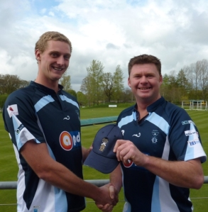 Loz receives his Dumfries Cap