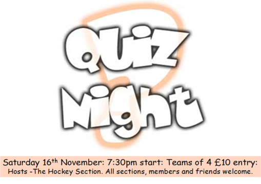 16 nov quiz night