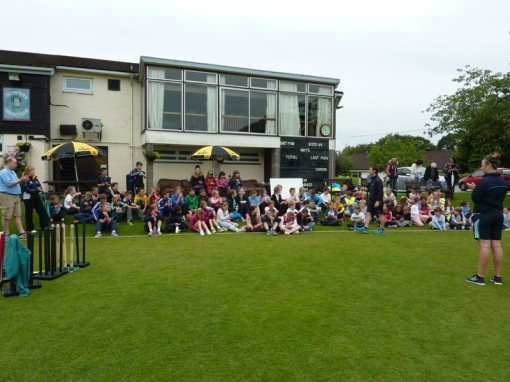 Pupils enjoyed a Primary Cricket Festival at Dumfries Cricket Club