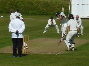 Scotland's Ritchie Berrington batting for Clydesdale against Dumfries