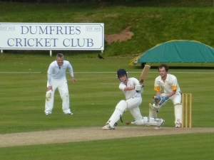 Chris McBride top scored with a fifty for Dumfries