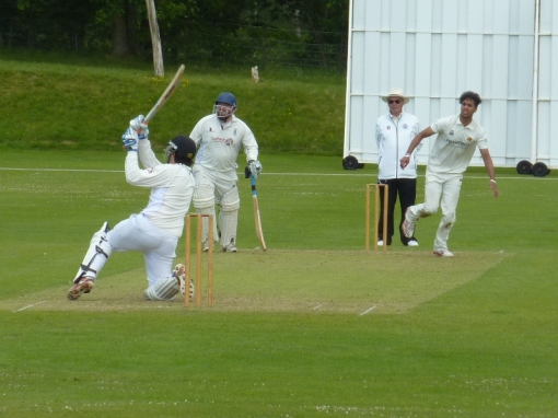 SIX: Josh hits another of his 10 sixes.