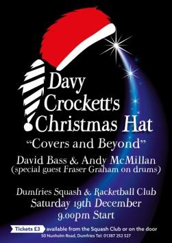 Davy Crockett's Xmas Hat A4 Poster