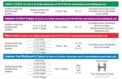 2016 summer brochure extract
