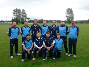 Dumfries team that won the Borders T20 Final against Kelso.