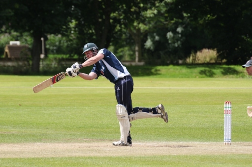 Robert McBride top scored for Dumfries in the Scottish T20 Semi-final ©Cricket Europe